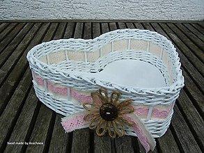 Košíky - Košíček s kvetinkou a kokosovou gombičkou - 8111540_