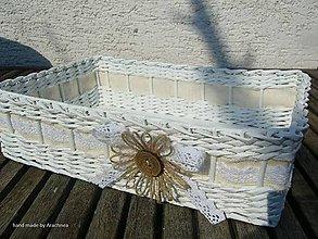 Košíky - Košíček s kvetinkou a kokosovou gombičkou - 8111892_