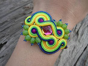 Náramky - Soutache náramek Magical Tropical Fruits - 8113620_