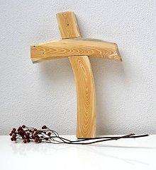 Dekorácie - Drevený kríž - 8112201_