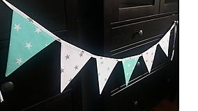 Detské doplnky - Vlajky mentolky - 8110451_