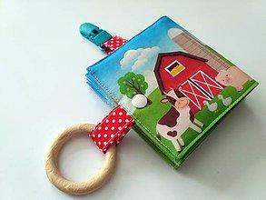 Hračky - Látkové leporelo s hryzátkom \