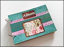 Papiernictvo - Vintage svadobný scrapbookový album ,,Roses & Dots
