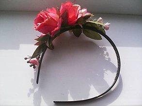 """Ozdoby do vlasov - Kvetinová čelenka do vlasov """"...v ružovej záhrade..."""" - 8112744_"""