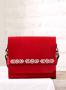 Kabelky - Vyšívaná kabelka na rameno BOHEMIAN CLUTCH RED - 8112183_