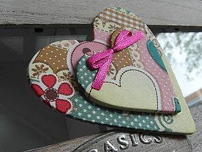 Magnetky - magnetka dvojité srdce - 8111150_