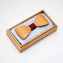 Doplnky - Drevený motýlik HARMONY - čerešňa evrop. - 8112338_