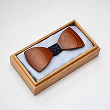 Doplnky - Drevený motýlik HARMONY - mahagon - 8112422_