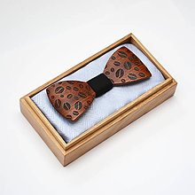 Doplnky - Drevený motýlik GRAND - mahagon zrna - 8112658_