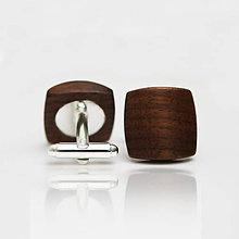 Šperky - Drevené manžetové gombíky BALANCE - orech - 8113242_