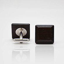 Šperky - Drevené manžetové gombíky ELEGANCE - wenge - 8113365_