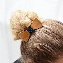Ozdoby do vlasov - Drevený motýlik do vlasov - čerešňa evrop. - 8113718_