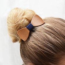 Ozdoby do vlasov - Drevený motýlik do vlasov - hruška - 8113748_