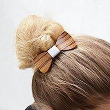 Ozdoby do vlasov - Drevený motýlik do vlasov - zebrano - 8113763_