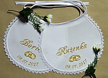 - svadobné podbradníky vyšívané - 8112074_