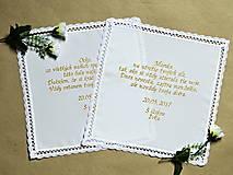 - vyšívaná svadobná vreckovka pre rodičov-pre Martinku - 8112080_