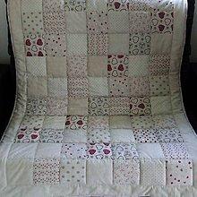Úžitkový textil - Režné variácie - prešívaná deka 155x112 - 8110355_