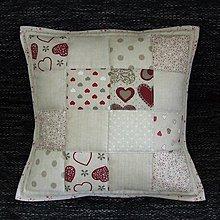 Úžitkový textil - Režné variácie - vankúš(1) 40x40 - 8110670_