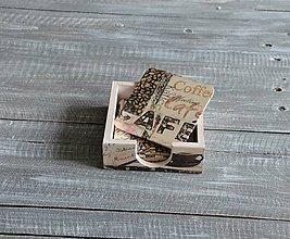 Pomôcky - podložky pod šálku/pohár 6 ks + box - \