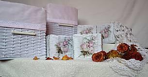 Košíky - Romantické ružové/sada - 8111235_