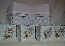 Košíky - Romantické ružové/sada - 8111240_