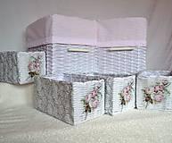Košíky - Romantické ružové/sada - 8111243_