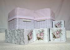 Košíky - Romantické ružové/sada - 8111244_