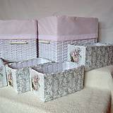 Košíky - Romantické ružové/sada - 8111245_