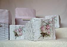 Košíky - Romantické ružové/sada - 8111247_