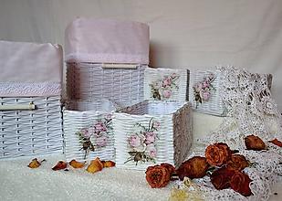 Košíky - Romantické ružové/sada - 8111234_