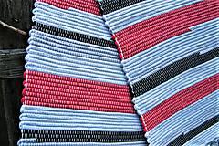 Úžitkový textil - Tkaný koberec sivo-červeno-čierny - 8111094_