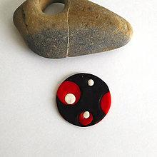 Náhrdelníky - Mozaikový prívesok (štipka vášne) - 8113257_
