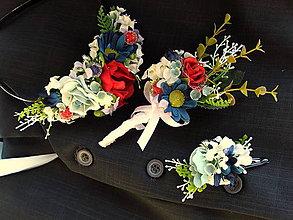 Pierka - Svadobné pierko, čelenka a sponka - svadba lesnej víly - 8114393_
