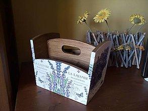 Krabičky - levanduľový stojan morený - 8116081_