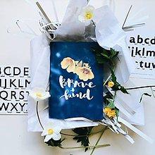 Papiernictvo - Zápisník Brave and Kind A5 - 8114166_