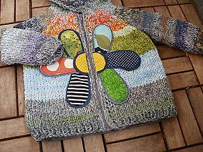Detské oblečenie - Detský svetrík s veľkým kvetom veľ. 2-3 roky - 8115577_
