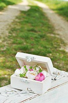 Prstene - Obrúčky v bielej krabičke - 8116907_