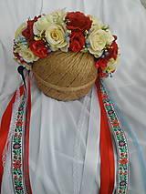 Ozdoby do vlasov - Folklórna svadobná parta - 8115953_