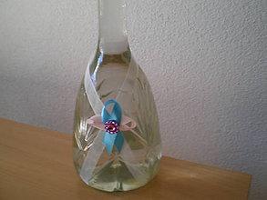 Darčeky pre svadobčanov - Stuhy na  svadobné fľašky III. - 8114747_