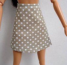 Hračky - Barbie - bodkovaná suknička - 8116744_