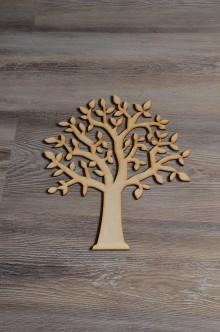 Polotovary - drevený výrez strom - veľký - 8113940_