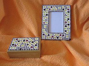 Rámiky - zlatá súprava s mozaikou - 8115932_