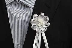 Pierka - Strieborné svadobné pierka pre otcov - 8116834_