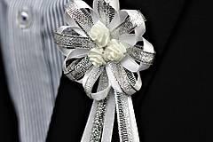 Pierka - Strieborné svadobné pierka pre otcov - 8116836_