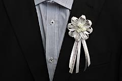 Pierka - Strieborné svadobné pierka pre otcov - 8116837_