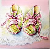 - Servítka D7 - Ružové papučky - 8114512_
