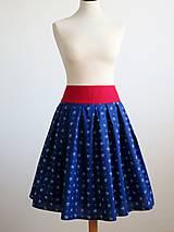 Sukne - sukňa s červeným pásom - 8117060_
