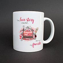 Nádoby - Hrnček Love Story - 8117091_