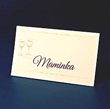 Papiernictvo - Svadobné menovky - 8116784_