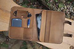 Na tablet - Kožený organizér -světle hnědý - 8116216_